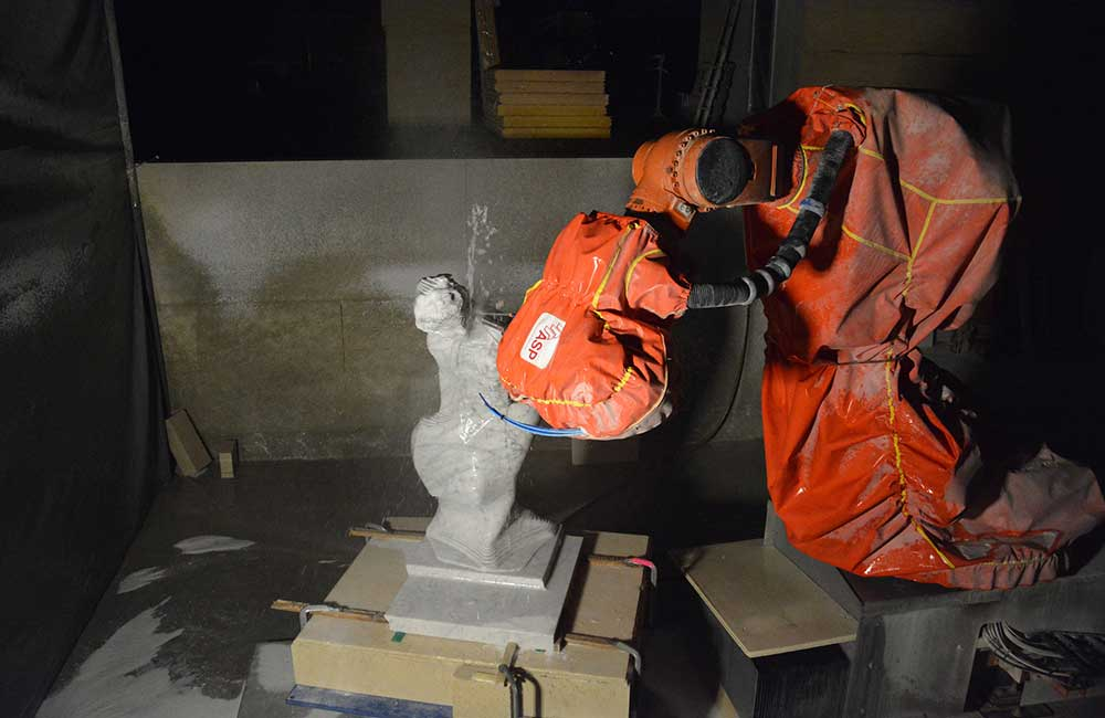 Usinage au robot kuka 8 axes